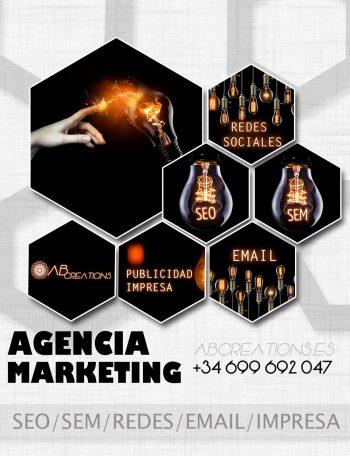 agencia marketing seo sem redes sociales email publicidad impresa