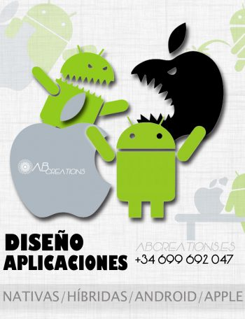 diseño aplicaciones moviles android apple nativas hibridas